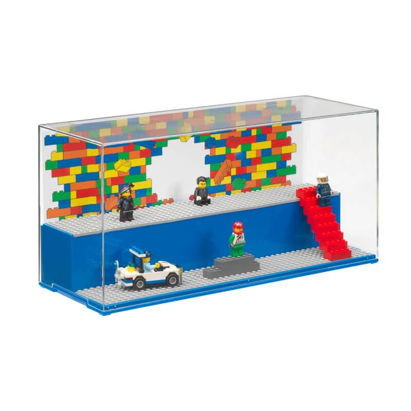 4070 LEGO Play Display Case Blue Minifigures